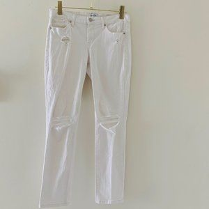 Jessica Simpson rolled crop distressed jeans